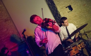 Nailsea Tithe Barn concert Ben Holder on Violin